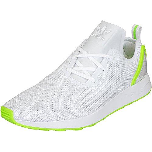 Adidas Originals Sneaker ZX Flux ADV Asymmetrical Sneaker Trainer, Größe:39 1/3;Farbe:white/green