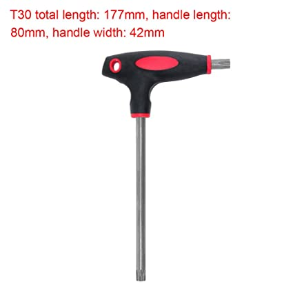 Destornillador de llave Allen Torx y Hex T10/15/20/25/30/40 (T30 ...