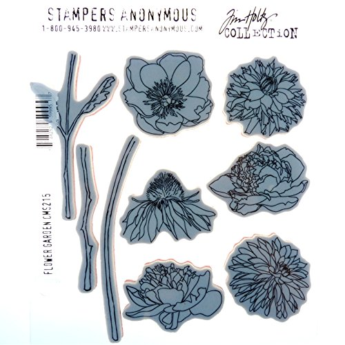 Stampers Anonymous CMS253 Wildflowers Tim Holtz Cling Stamps 7 by 8.5 Clear