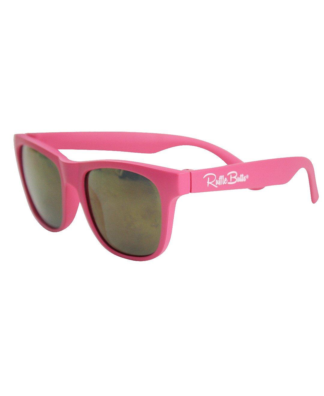 RuffleButts Little Girls Boys Flexible Shatter-Resistant 100% UVA & UVB Protection Kids Sunglasses - Candy - 2T-5