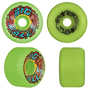 SANTA CRUZ Old School ReIssue Skateboard Wheels 65mm SLIME BALLS BIG BALLS GREEN