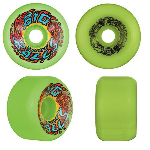 Santa Cruz Old School Reissue Skateboard Wheels 65Mm Slime Balls Big Balls Green