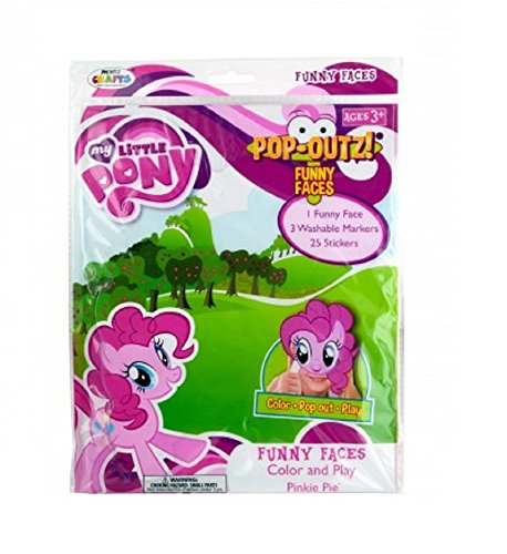 My Furry Costume (My Little Pony Pop-Outz Color and Play Funny Faces Mask - Pinky Pie)