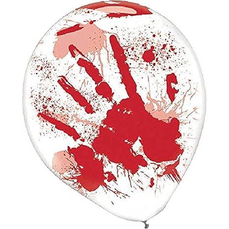 Blood Splatter Balloons Dropship 110079 Halloween Decor TradeMart Inc -