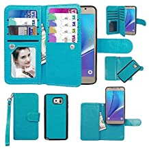 Case for Galaxy Note 5, xhorizon TM SR Premium Leather Folio Case [Wallet Function][Magnetic Detachable] Fashion Wristlet Purse Soft Flip Multiple Card Slots Case Cover for Samsung Galaxy Note 5