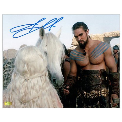 (Jason Momoa Autographed 8x10 Game of Thrones Khaleesi Horse Photo)