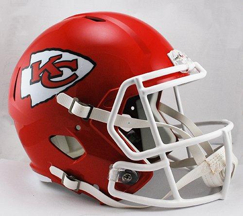 Kansas City Chiefs Riddell Full Size Speed Deluxe Replica Football Helmet - New in Riddell Box