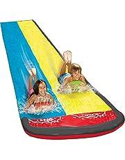 Gazonwaterglijbanen voor kinderen Achtertuin, Surf Rider Dubbele glijbaan, Buitentuin Glijbaan Met Splash Sprinkler Voor Kinderen Zomer Achtertuin Zwembad Waterspeelgoed (188,98 55,12 inch)
