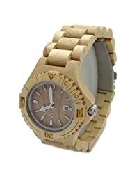 Handmade Maple Wood Watch with Date Made with Natural Wood - HGW-066