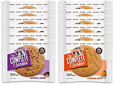 Lenny & Larry's The Complete Cookie xTgkN - 6 Oatmeal Raisin and 6 Pumpkin Spice (Pack of 12)