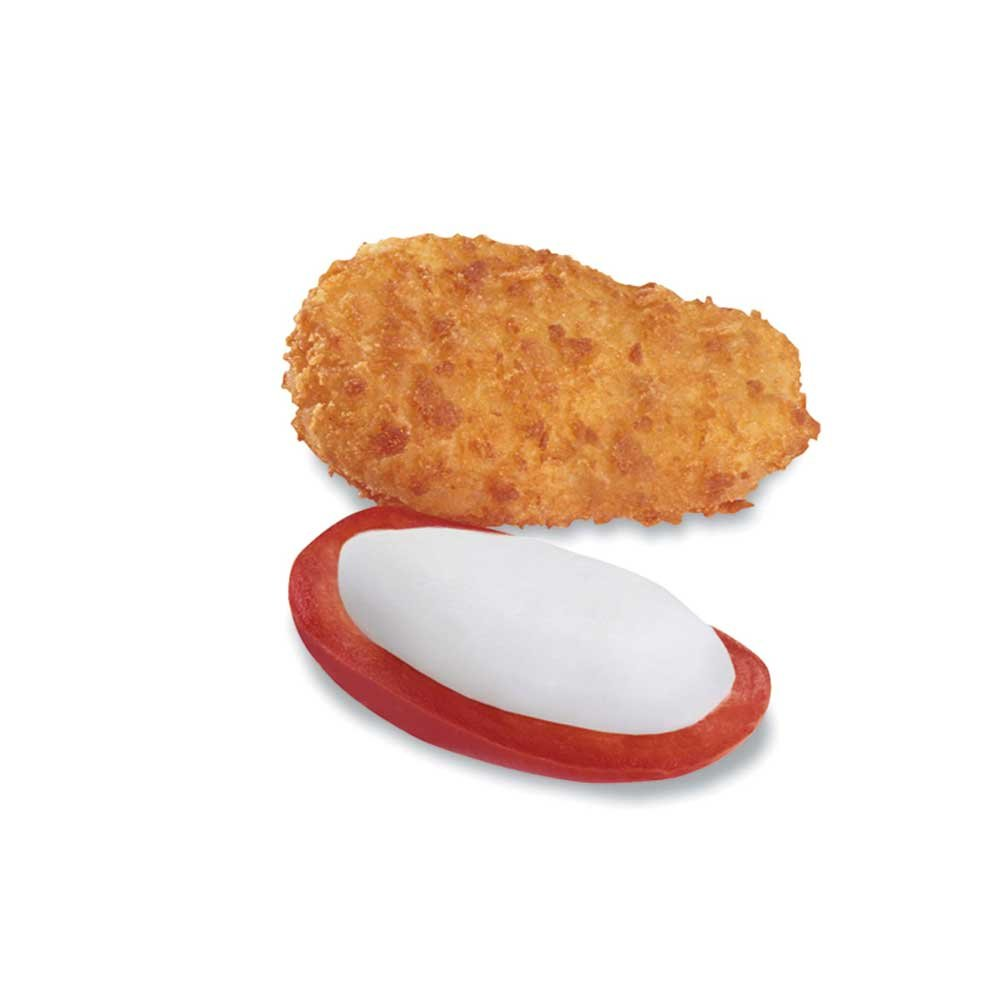 McCain Poppers Breaded Red Hot Chile Cream Cheese Stuffed Jalapeno - Appetizer, 4 Pound -- 4 per case.