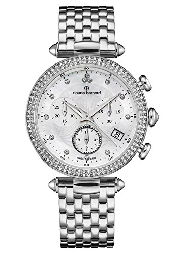 Claude Bernard Ladies-Wristwatch Dress Code Chronograph Date Quartz 10230 3M NAN