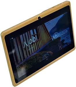تابلت وين تاتش Q75S بمقاس 234 × 165 × 56 ملم وشاشة 7 انش مزود بشبكة واي فاي وذاكرة رام 512 جيجا وذاكرة داخلية 8 جيجا بلون ذهبي