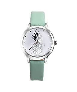 Women Quartz Watches PAPHITAK Pineapple Ladies Watches Female Watches Watches-N2 (Green)