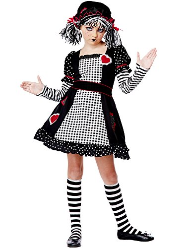 Gothic Raggedy Ann Halloween Costumes (California Costumes Rag Doll Child Costume,)