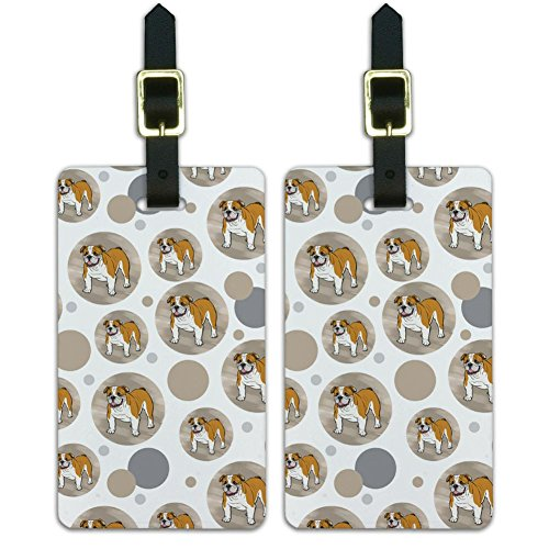 Graphics & More Luggage Suitcase Carry-on Id Tags-Dog Puppy-English Bulldog, White