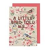 Cath Kidston Birthday Card Meadow Field Birds Design