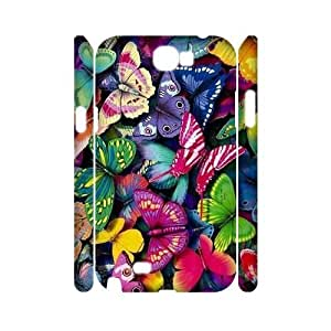 Butterfly Diamond CUSTOM 3D Cell Phone Case for Samsung Galaxy Note 2 N7100 LMc-83877 at LaiMc
