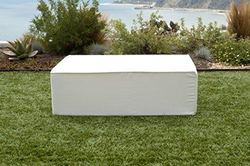 SOFTBLOCK LB-OTTO-WHT Lowboy Foam Ottoman Table, White