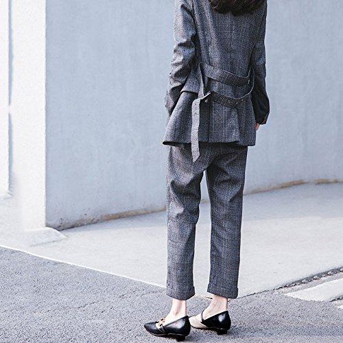 Jane Femmes en Chaussures Carrée Couleur Métal Femmes DKFJKI Tête pour Escarpins Mary Cuir Brown Chaussures à Assorti pour R7qnEP