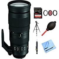 Nikon AF-S FX Full Frame NIKKOR 200-500mm f/5.6E ED Zoom Lens (20058) with 64GB Bundle
