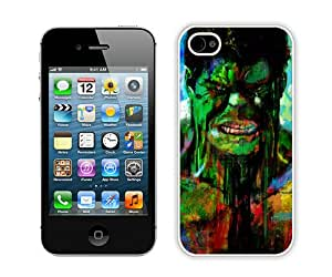 New Unique And Popular iPhone 4 Case Designed With Hulk 50 White iPhone 4 Cover