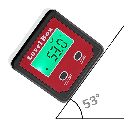 - Promisy Precision Digital Protractor Inclinometer Level box, Digital Angle Finder Bevel Box with Magnet Base