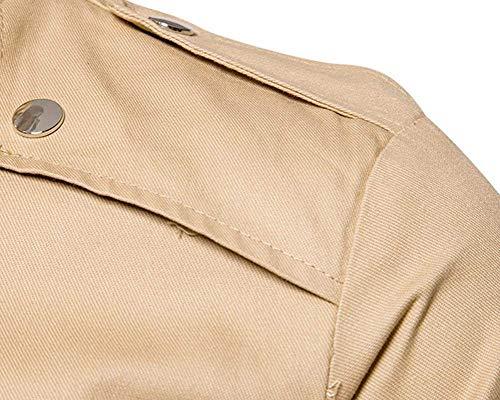 Ragazzi Pilot Kaki Bomber Con Da Zipper Lunga Classiche Jacket Classico Uomo Manica Giacca Cerniera Giubbotto Flight Trendy TwWFRqwS