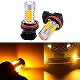 2 PCS Car H8 H11 33-SMD LED Xenon Head Light Headlight Bulbs Lamp or Daytime Running Lights Lighting DRL 12V 7.5W - Yellow