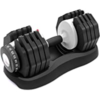 ATIVAFIT Adjustable Dumbbell Fitness Dial Dumbbell with Handle and Weight Plate for Home Gym 1 PCS