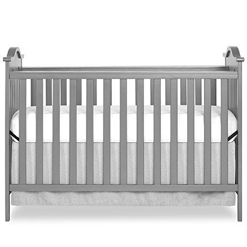 (Dream On Me Bella Rose Classic Convertible Crib, Steel Grey )