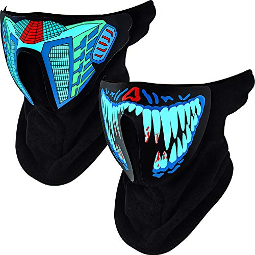 Sound Activated Mask - 2 Piece Sound Activated Light Up