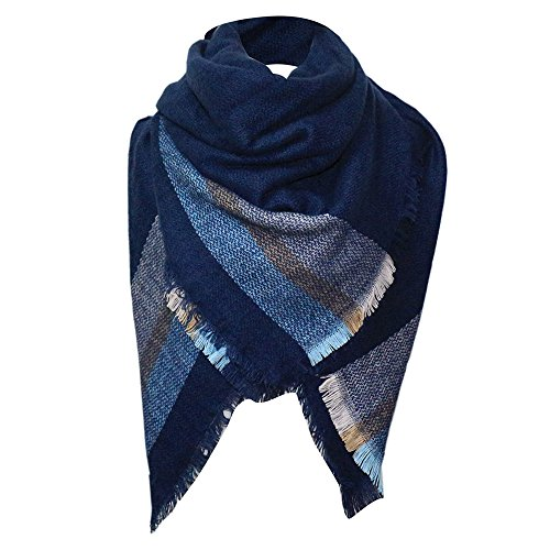 Stripe Scarf 's Winter Long Soft Wrap Lady Plaid Shawl Sunmoot