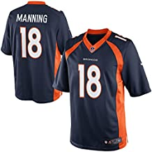 Mens Denver Broncos Peyton Manning Nike Team Game Jersey (Navy, X-Large)