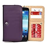 Dark Purple Phone Wallet Case for LG V10 5.7, LG G Vista 2, LG G4 Pro, LG G Stylo, LG G Pro 2, Flex Smartphone Phablet