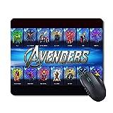 Computer Mouse Pad Non-Slip Mousepad - Comics Comfortable Gaming Large Mouse Pad 11.6' x 9.8' (Avengers-Figure)