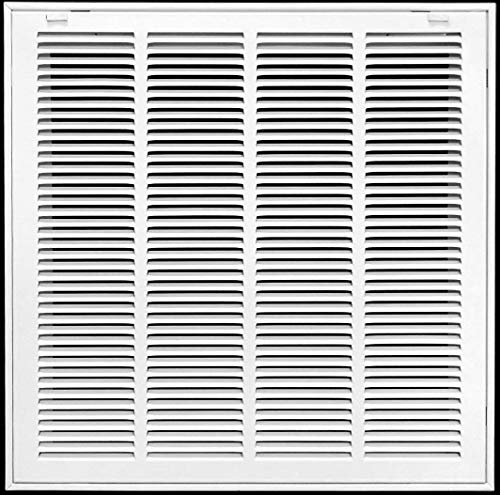 "20"" x 30"" Return Air Filter Grille Filter Included - Removable Face/Door - HVAC Vent Duct Cover - White [Outer Dimensions: 22.5w X 31.75h]"