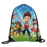 Unisex Paw Patrol Drawstring Bag Drawstring Backpack Sport Bag Gym Bag 100% Polyester Material Travel Bag For Men Women