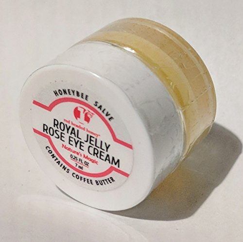 All Natural Eye Cream-Organic Royal Jelly with Bulgarian Rose Oil- Wrinkle Reduction-Remove Bags-Organic Coffee Butter Removes Free Radicals. By red headed honey For Sale