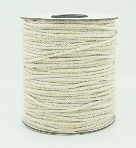 2mm Natural White Cotton Twisted Cord Craft Macrame Artisan String (100yards Spool)