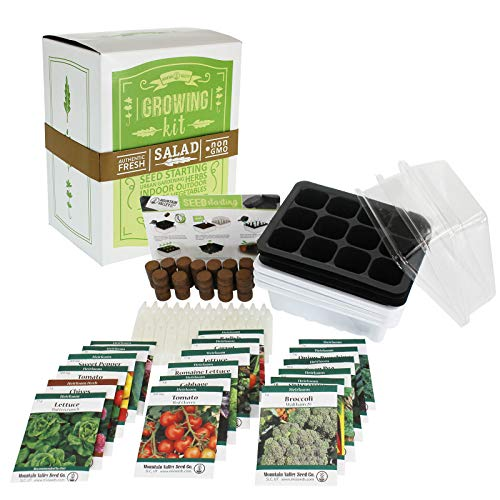 Mexican Salsa & Hot Sauce Making Kit   Premium Kit   18 Non-GMO Seed Varieties   Mexican Seeds for Hot Sauce, Salsa, Pico De Gallo   Cilantro Herb, Tomato, Onion, Peppers, Basil, Jalapeno, More (Seeds Tomato Salsa)