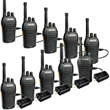 Retevis RT46 Walkie Talkies Dual Power Rechargeable 2 Way Radio VOX FRS Radio SOS Emergency Outdoor Two Way Radios with Flashlight (Black 10Pack)
