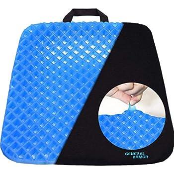 Amazon.com: Vive Gel Seat Pad Cushion (Gray) - Orthopedic ...