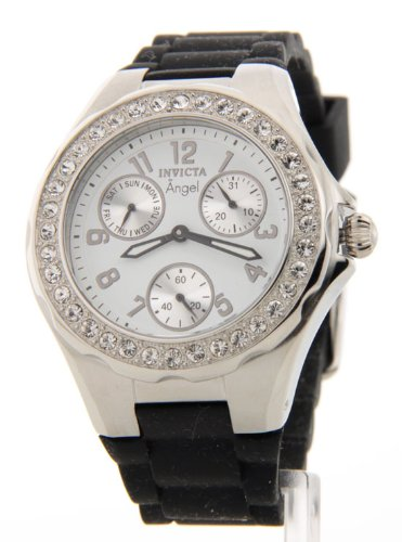 Invicta Women's 1647 Angel White Dial Crystal Accented Watch