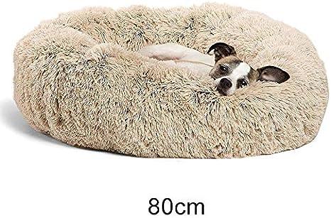 Cutogain Pelusa Peluche Donut Cuddler Gatos Cama C/ómodo Calmante Redondo Perro Perrito Estera Nido para Dormir