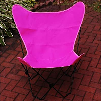 The Hamptons Collection Hot Pink Replacement Cover for Retro Folding Butterfly Chair : Patio Chair Covers : Garden & Outdoor