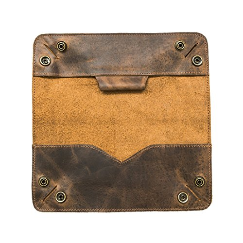 Leather Tray Pencil Case Handmade by Hide & Drink :: Bourbon - Sunglasses Turn Down What For