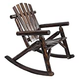 American Furniture Classics Log Rocking Chair, Burnt