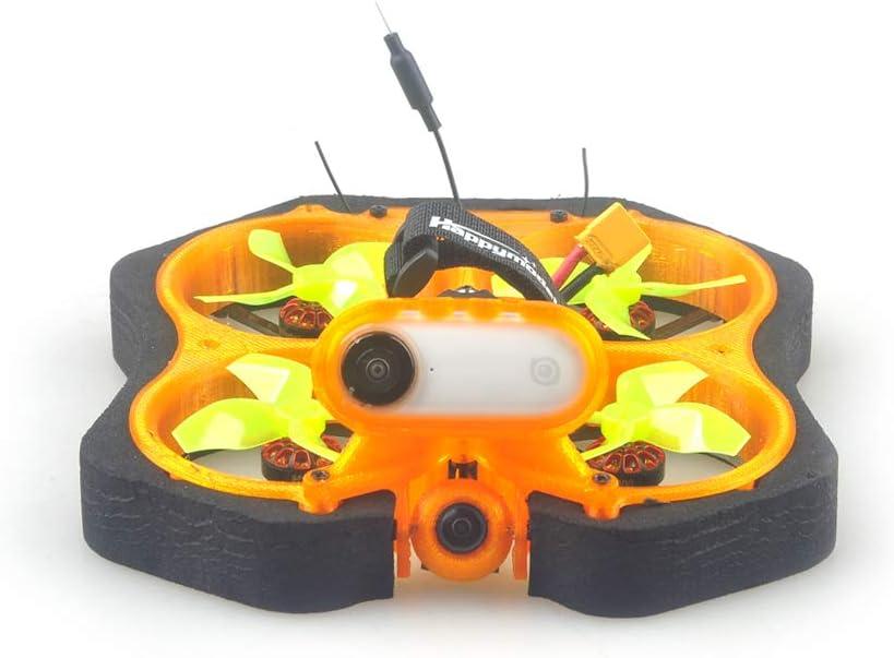 HAPPYMODEL CINE8 Cinewhoop FPV Racing Drone sin escobillas de 85 mm con cámara 1200 TVL sin montar, kit de montaje compatible con Insta360 (TBS Crossfire Nano RX)
