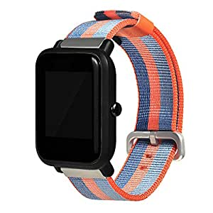 Elegante Xiaomi huami amazfit bip para cooljun, jóvenes reloj deportivo reloj de repuesto nailon pulsera, naranja: Amazon.es: Deportes y aire libre